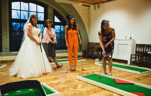 9 hole event hire - mini golf for weddings - wedding entertainment - alternative wedding entertainment 1