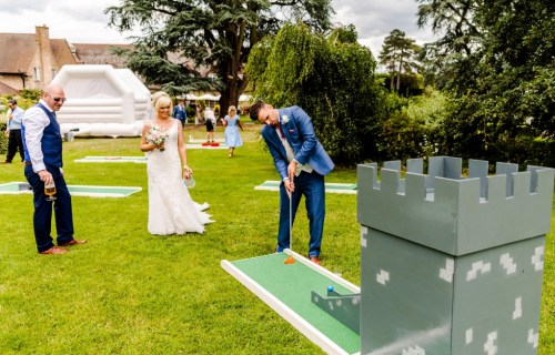 9 hole event hire - mini golf for weddings - wedding entertainment - alternative wedding entertainment 2