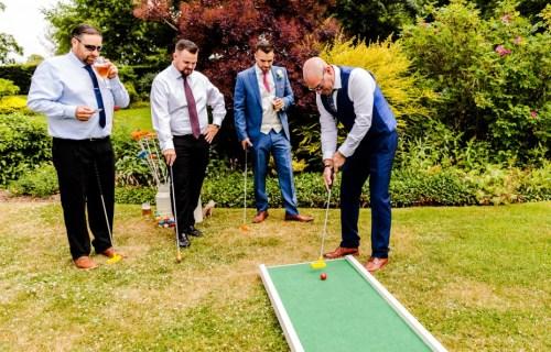 9 hole event hire - mini golf for weddings - wedding entertainment - alternative wedding entertainment 6