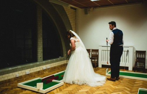 9 hole event hire - mini golf for weddings - wedding entertainment - alternative wedding entertainment 7