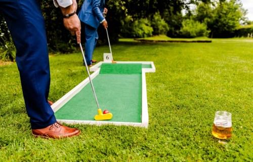 9 hole event hire - mini golf for weddings - wedding entertainment - alternative wedding entertainment 8