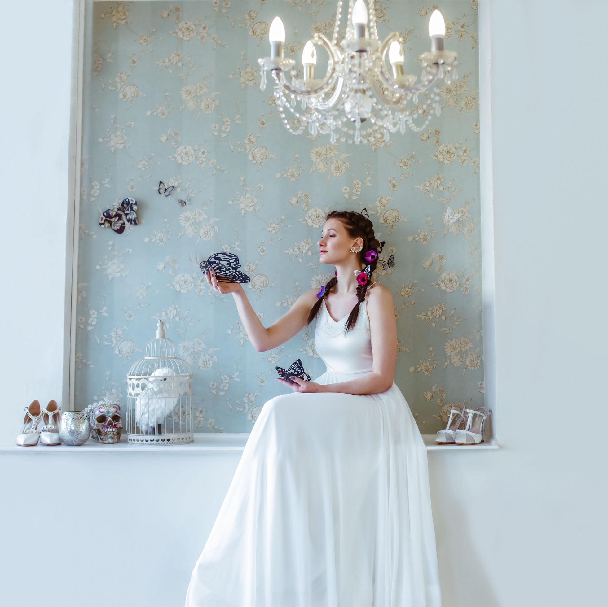 May & Grace Bridal - 3 alternative bridal looks 11 - butterflies