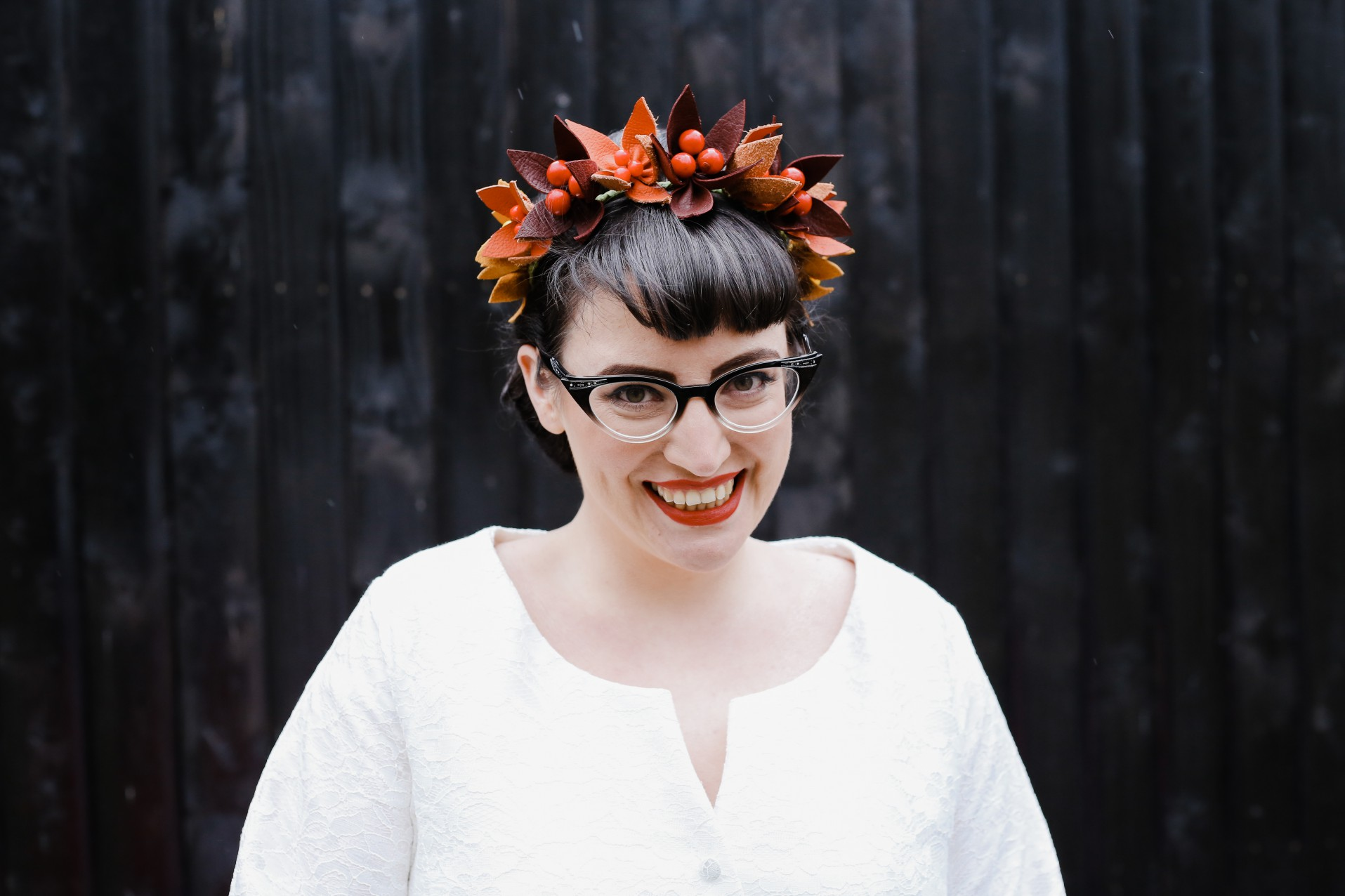 Becky Payne Photographer - Rainbow Unicorn Styled Wedding Shoot - flower crown