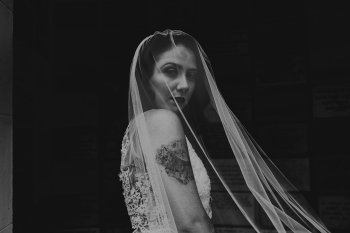 A Chloe Mary Photography - Babes with the Power wedding - Rebel Rebel - Alternative wedding - Gothic wedding 3