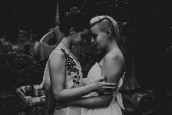 Chloe Mary Photography - Babes with the Power wedding - Rebel Rebel - Alternative wedding - Gothic wedding 10