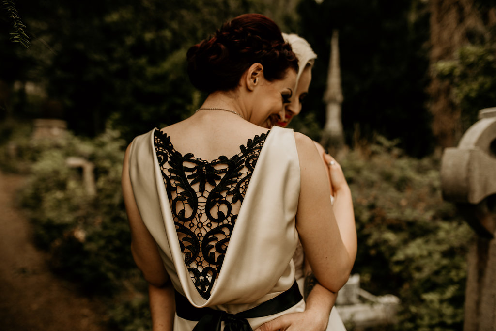Chloe Mary Photography - Babes with the Power wedding - Rebel Rebel - Alternative wedding - Gothic wedding 13