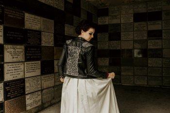 Chloe Mary Photography - Babes with the Power wedding- Rebel Rebel - Alternative wedding - Gothic wedding 21