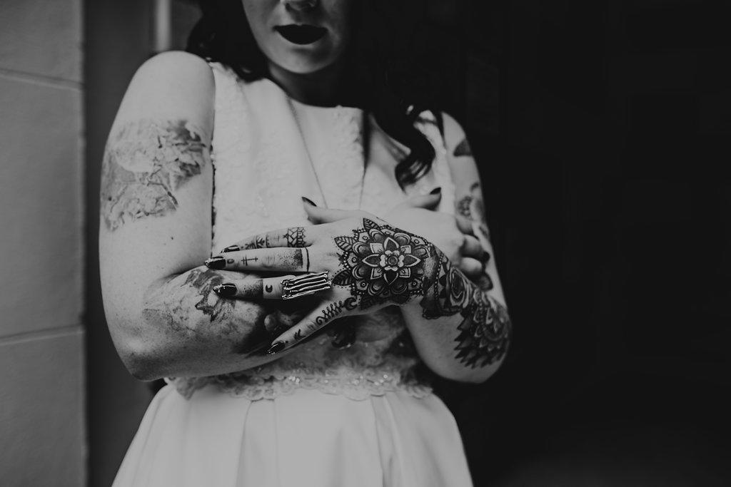 Chloe Mary Photography - Babes with the Power wedding - Rebel Rebel - Alternative wedding - Gothic wedding 27