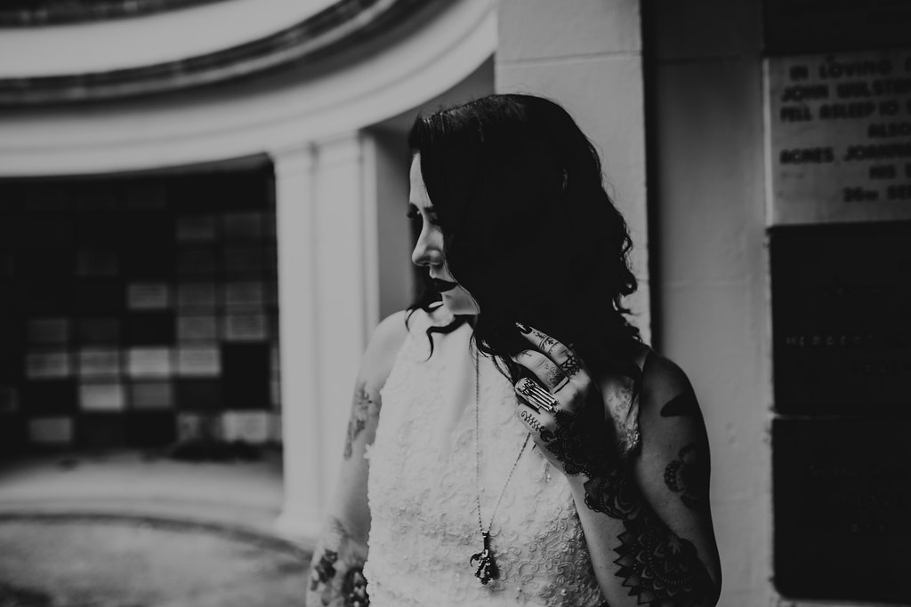 Chloe Mary Photography - Babes with the Power wedding - Rebel Rebel - Alternative wedding - Gothic wedding 28