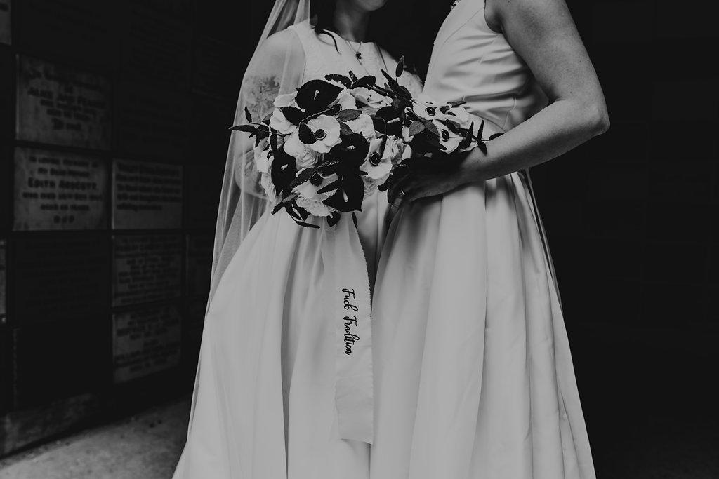 Chloe Mary Photography - Babes with the Power wedding - Rebel Rebel - Alternative wedding - Gothic wedding 40