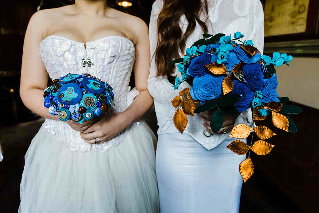 Charlotte Laurie Designs - Doctor Who wedding - alternative wedding bouquets
