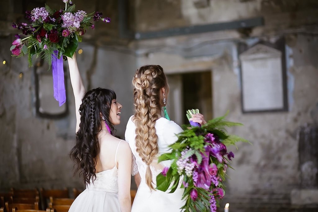 Rock the Purple Love - Gido Weddings - The Asylum Chapel - alternative wedding inspiration 121 - Urban, modern wedding