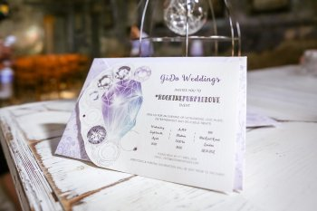 Rock the Purple Love - Gido Weddings - The Asylum Chapel - alternative wedding inspiration 100 - urban modern wedding