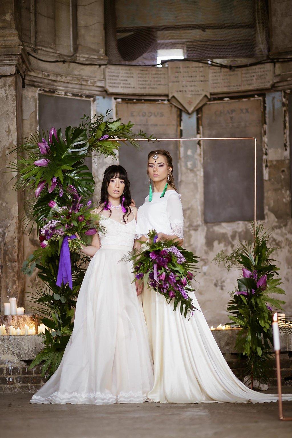 Rock the Purple Love - Gido Weddings - The Asylum Chapel - alternative wedding inspiration 110 - urban modern wedding