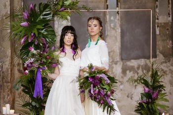 Rock the Purple Love - Gido Weddings - The Asylum Chapel - alternative wedding inspiration 110 - urban modern wedding