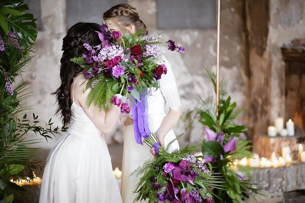 Rock the Purple Love - Gido Weddings - The Asylum Chapel - alternative wedding inspiration 108 - urban modern wedding