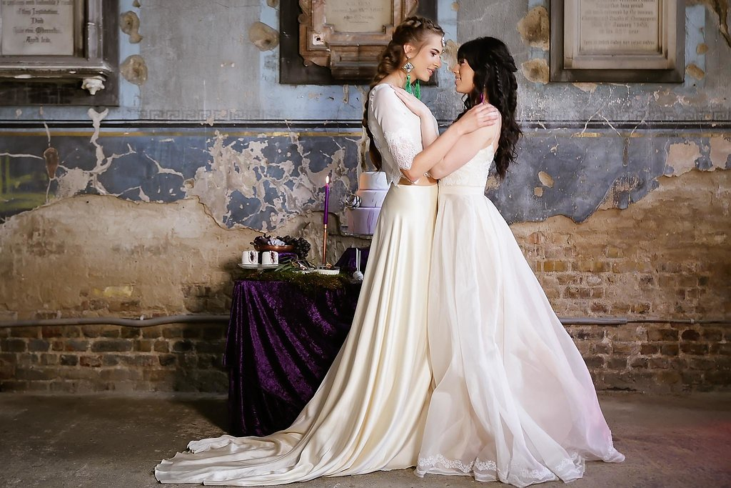 Rock the Purple Love - Gido Weddings - The Asylum Chapel - alternative wedding inspiration 106 - urban modern wedding