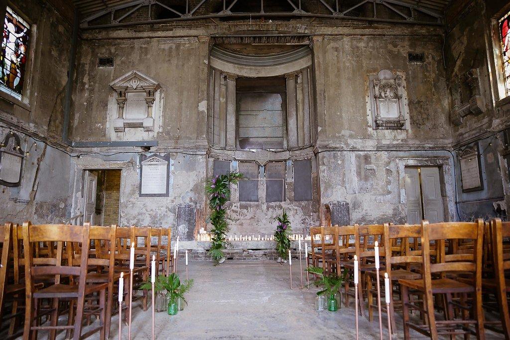 Rock the Purple Love - Gido Weddings - The Asylum Chapel - alternative wedding inspiration 101- urban modern wedding