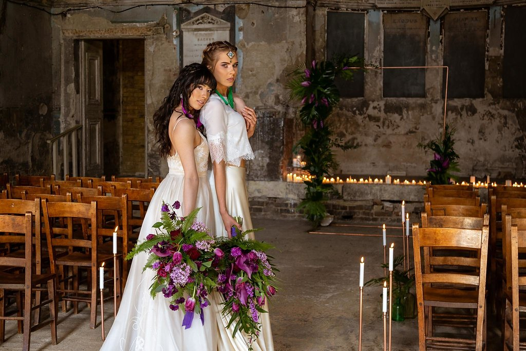 Rock the Purple Love - Gido Weddings - The Asylum Chapel - alternative wedding inspiration 4 - Urban, modern wedding