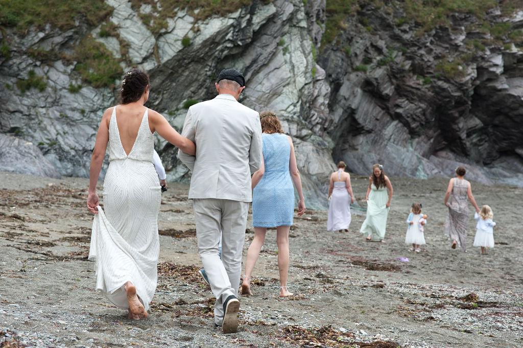 Nathan Walker Photography - Beach Wedding - Cornwall Wedding - Alternative wedding 10