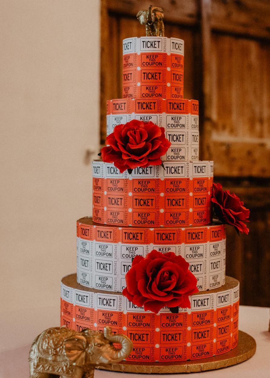 EmilyandGeoff- Nick Shea Photography- Circus Wedding - cake