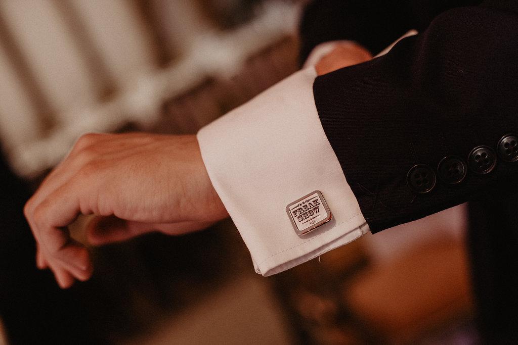EmilyandGeoff- Nicki Shea Photography- Circus Wedding- cufflinks