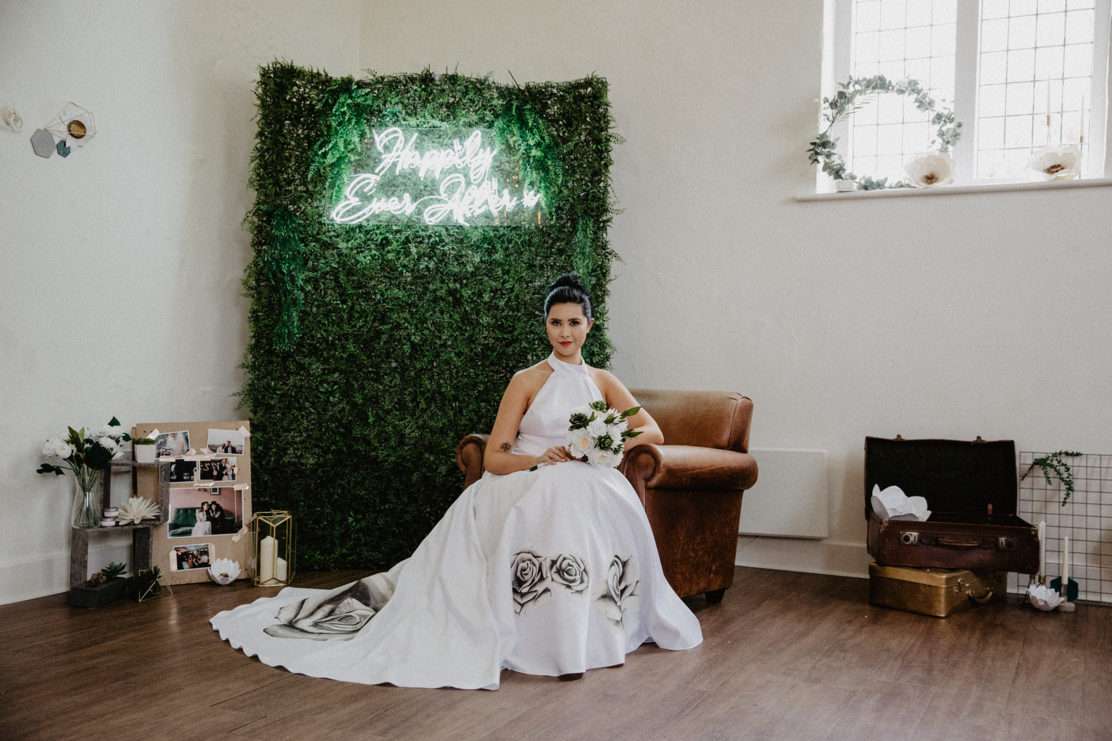 alternative bridalwear - hand painted bridal gowns - aylin white designs