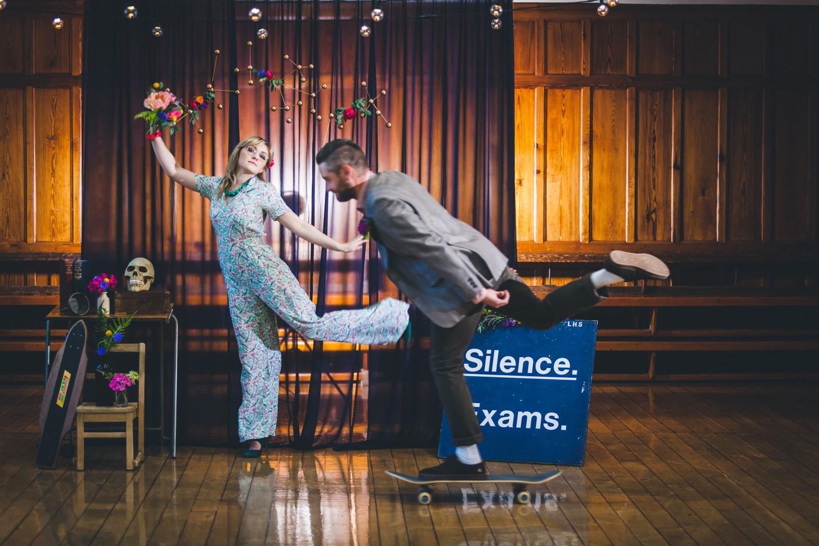 Curious Magpie- Science Geeks Wedding-Skateboard