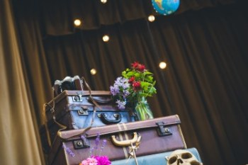 Curious Magpie- Science Geeks Wedding-Suitcases