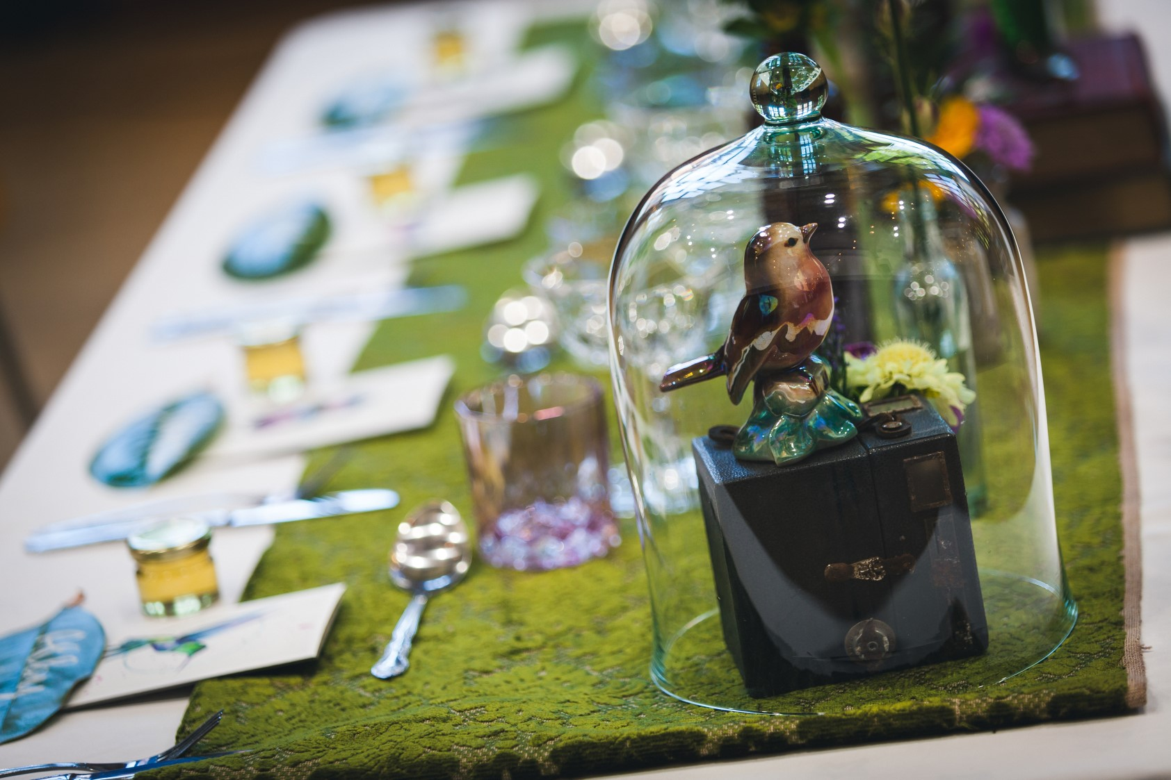 Curious Magpie- Science Geeks Wedding- Table Pieces