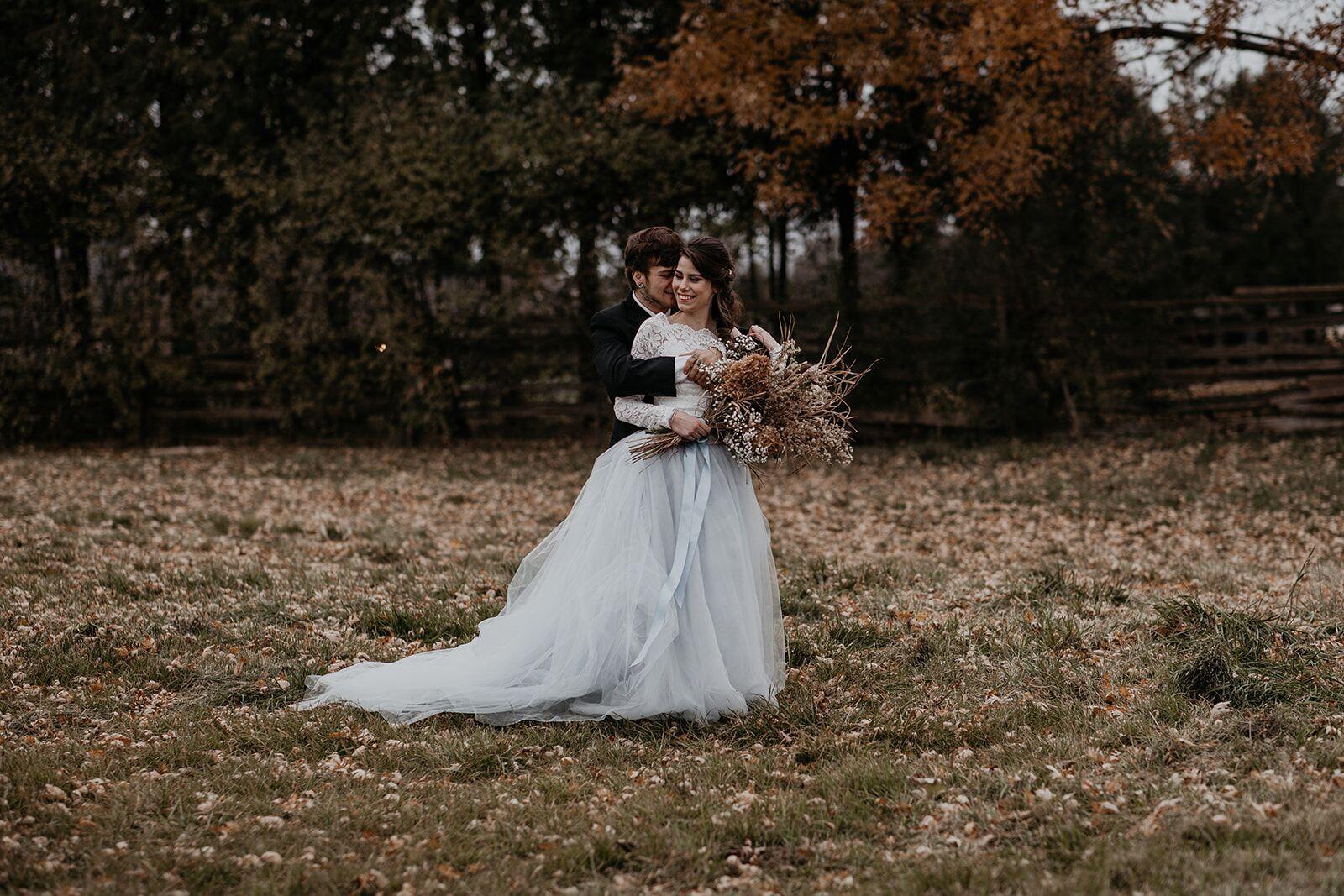 rustic winter wedding- wild honey weddings- hug