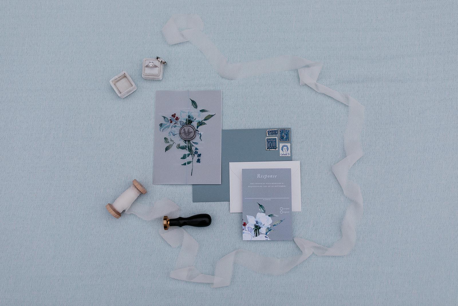 rustic winter wedding- wild honey weddings- stationery