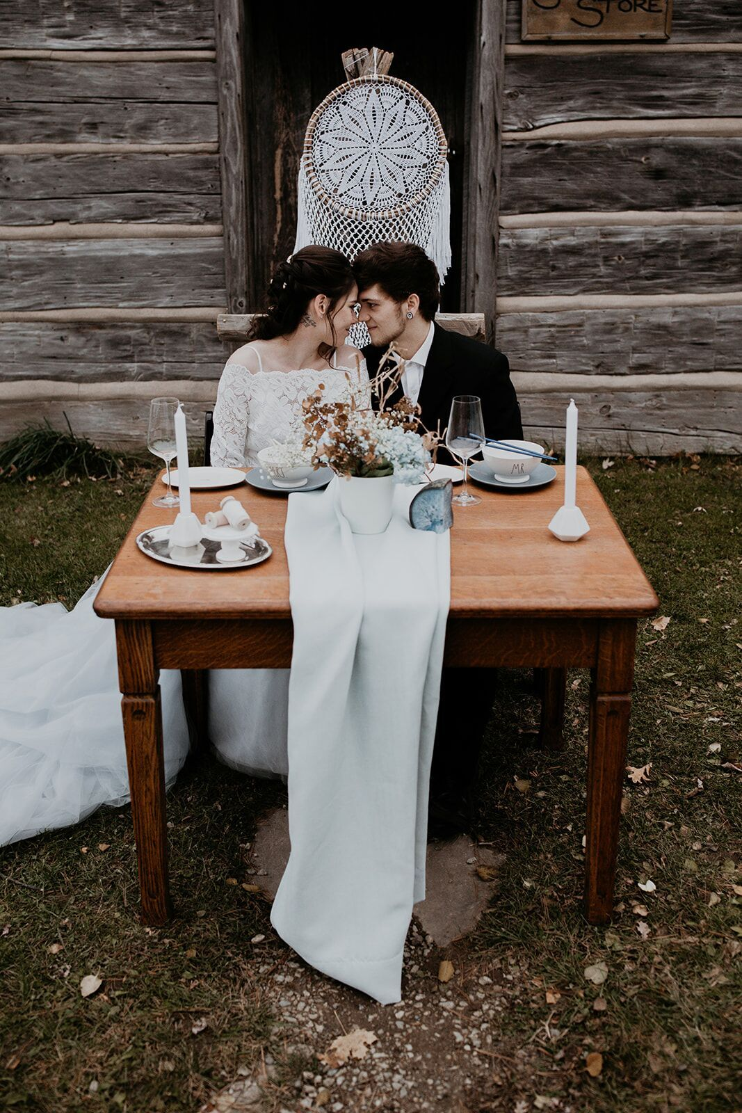 rustic winter wedding- wild honey weddings- decor