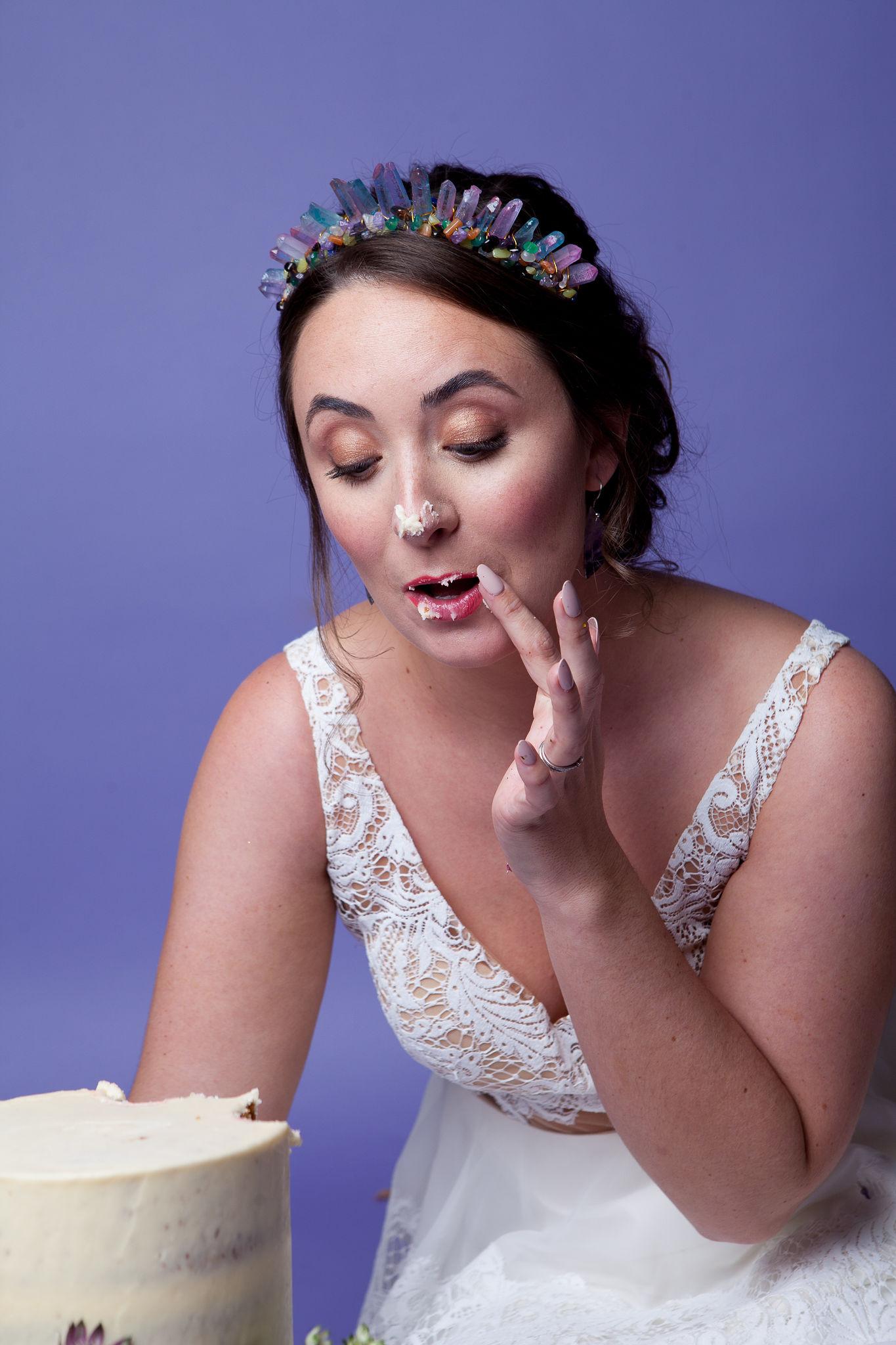 Abundance crystals- colourful wedding- cake 4
