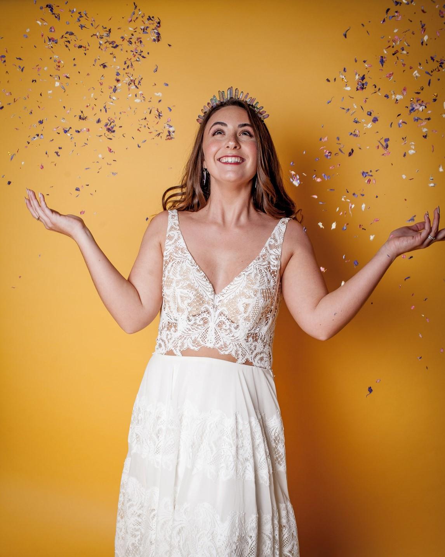 Abundance crystals- colourful wedding- confetti