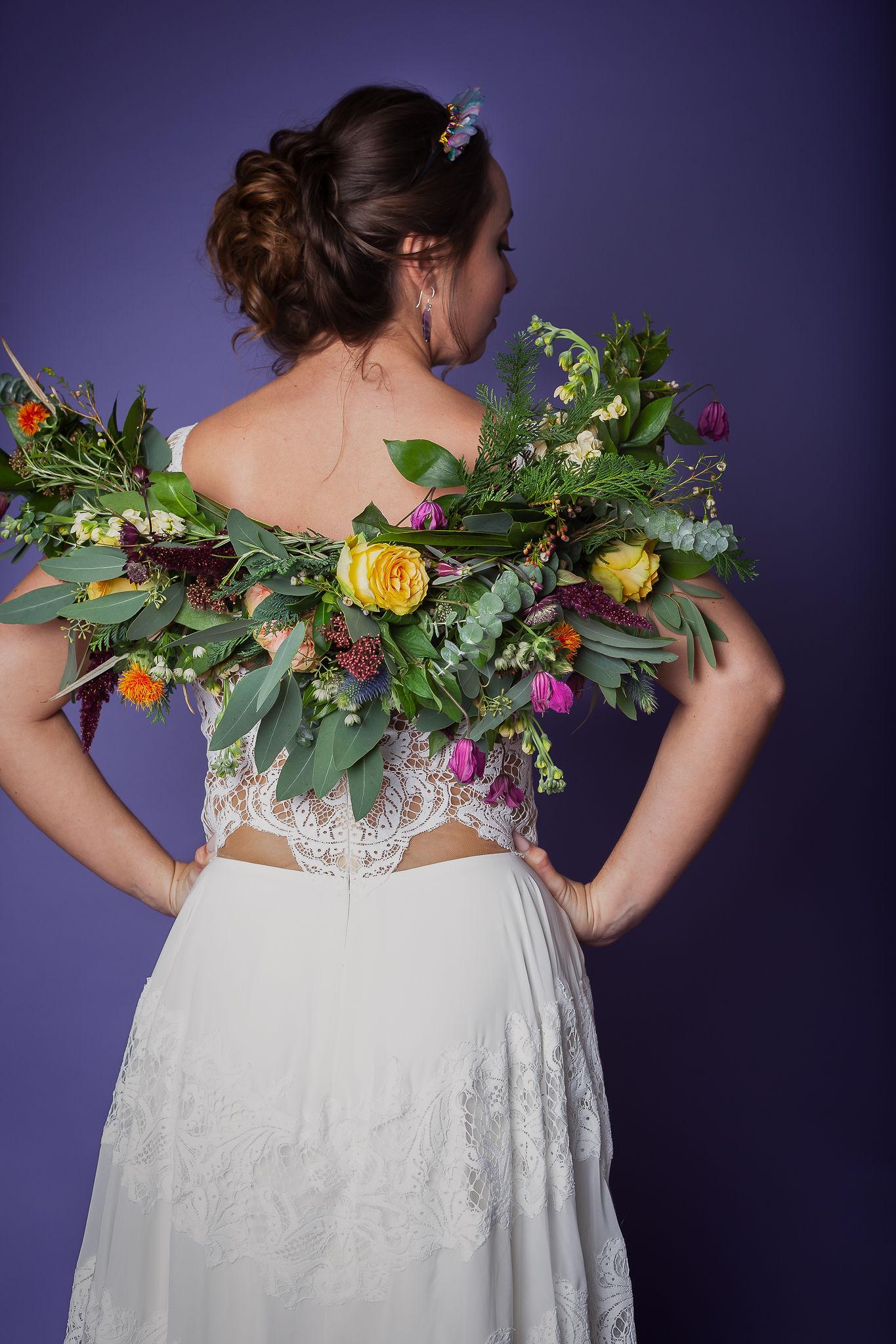 Abundance crystals- colourful wedding- flowers