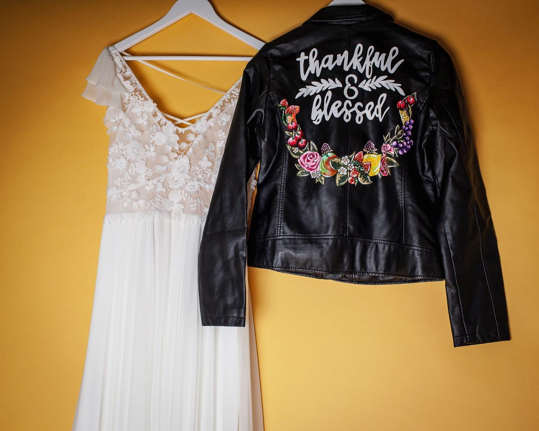 Abundance crystals- colourful wedding- jacket