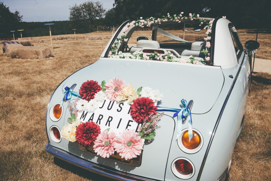 Festival Wedding- Joelle Poulos- Car