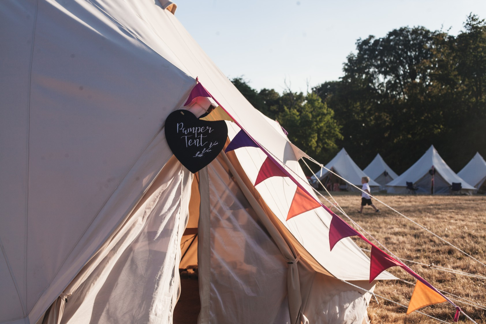 Festival Wedding- Joelle Poulos- Pamper Tent