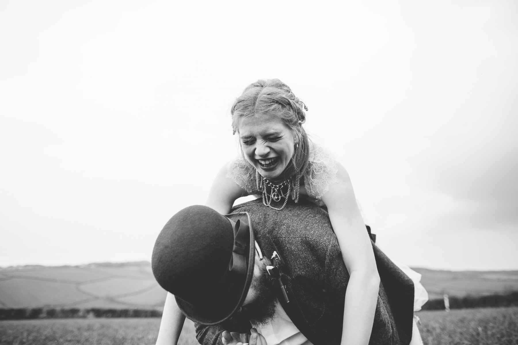 Ragdoll Photography-Tipi Wedding- Piggy Back