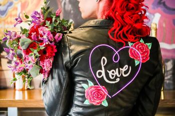 neon dreams- free form images- valentines- jacket