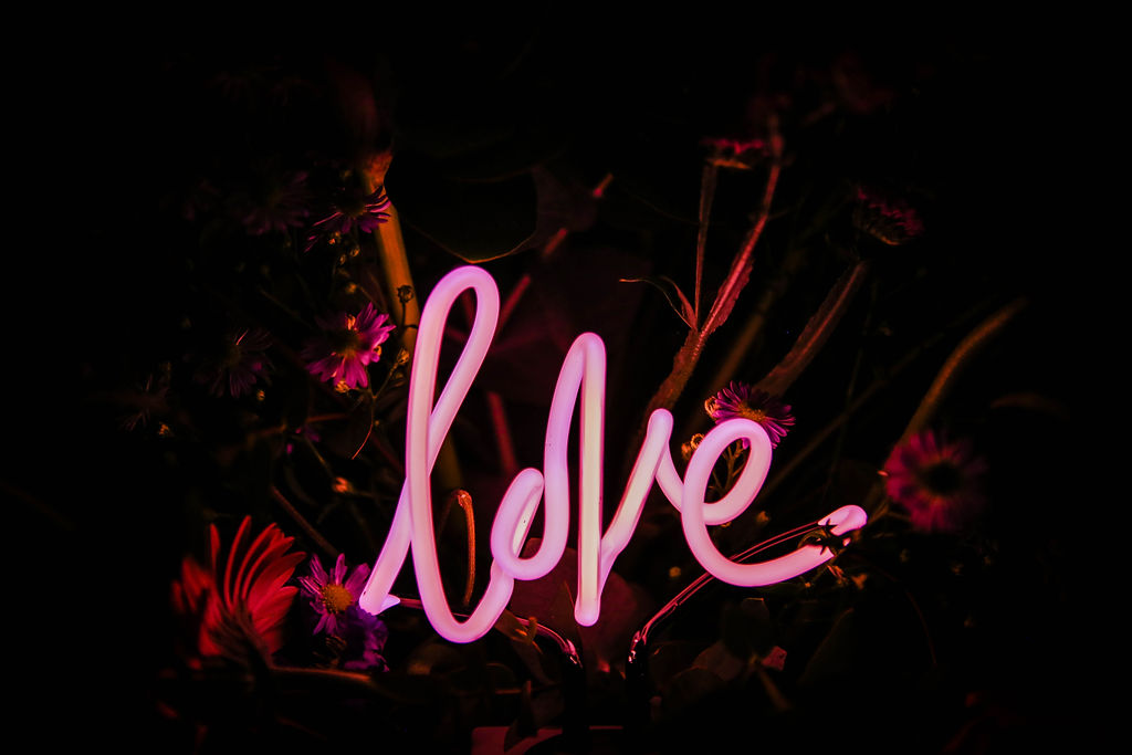 neon dreams- free form images- valentines- love
