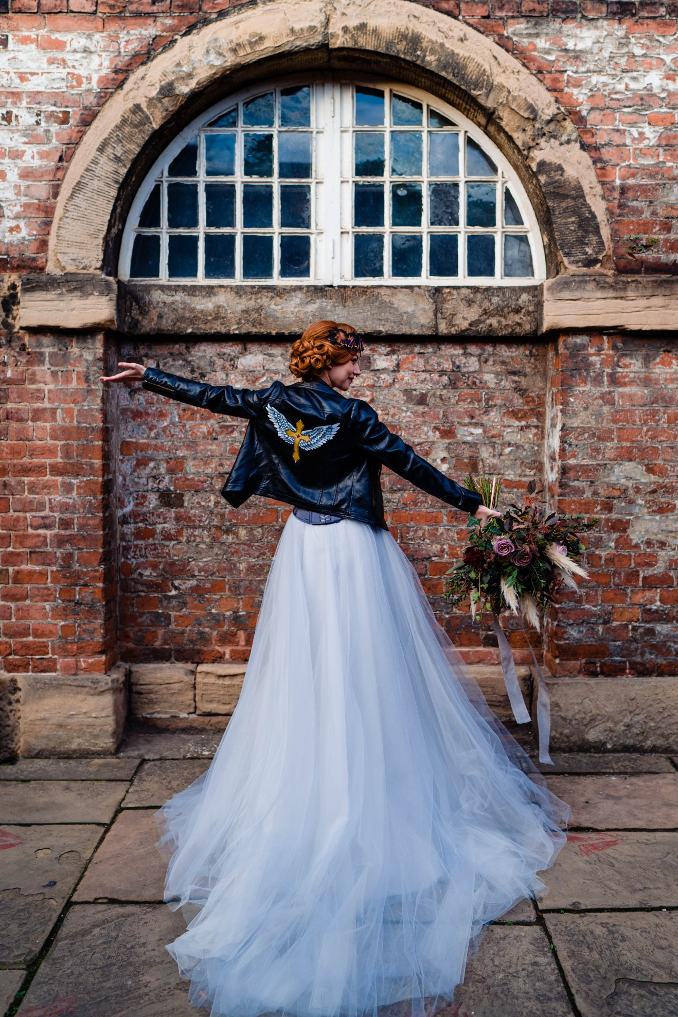 A gothic wedding - national justice museum wedding - alternative wedding - Vicki Clayson Photography (12)