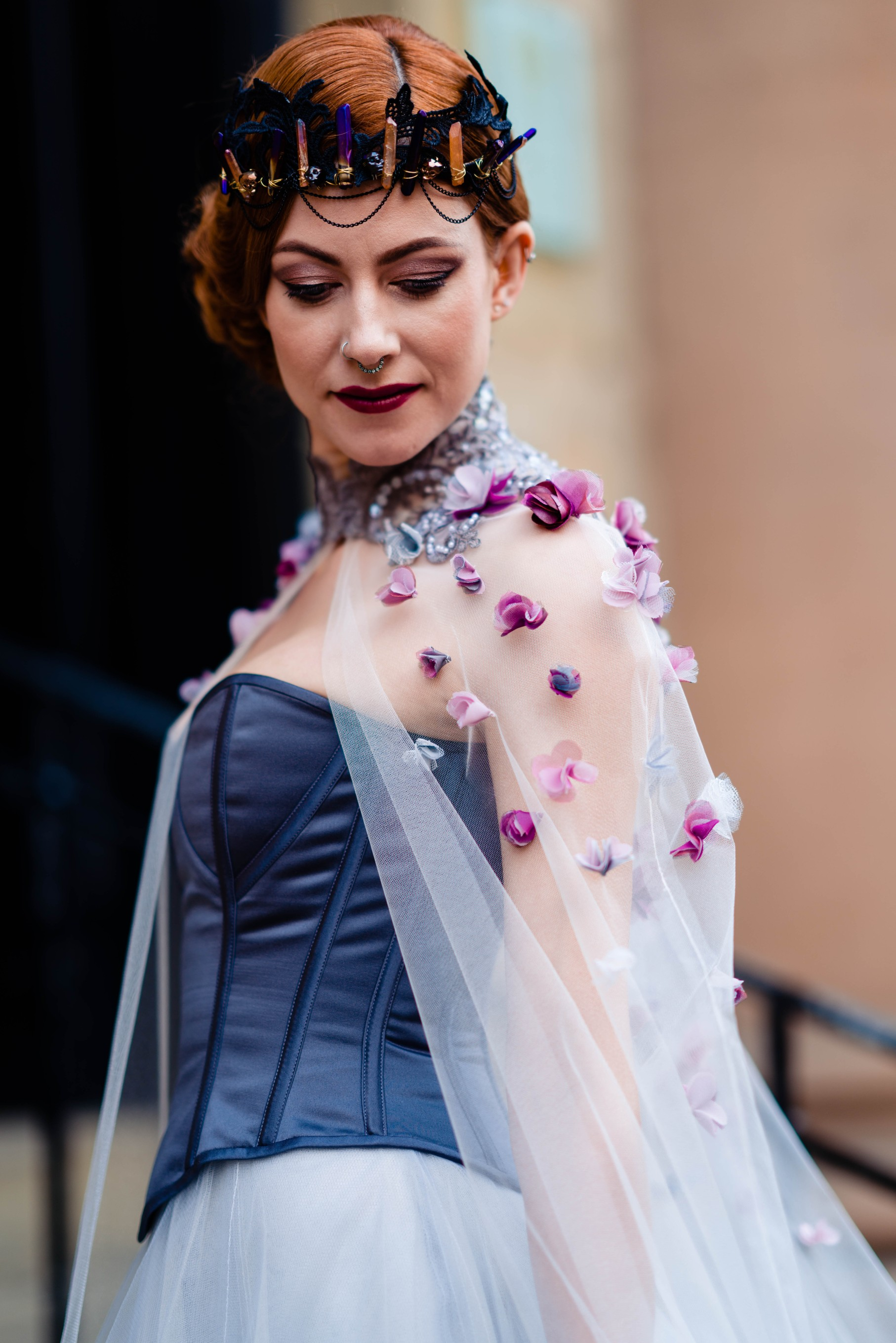 A gothic wedding - national justice museum wedding - alternative wedding - Vicki Clayson Photography (20)