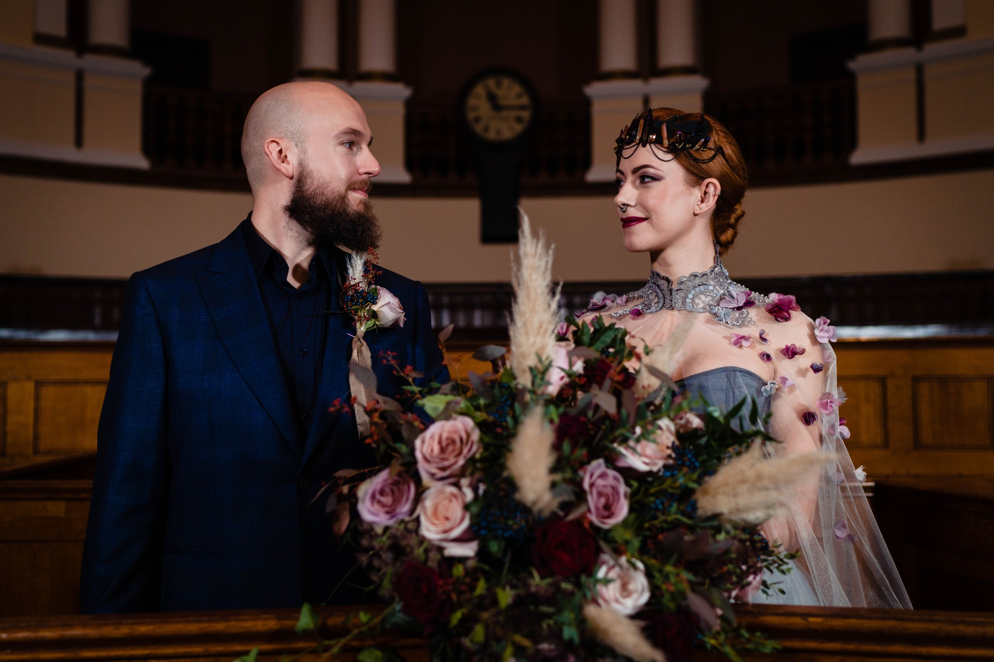 A gothic wedding - national justice museum wedding - alternative wedding - Vicki Clayson Photography (28)