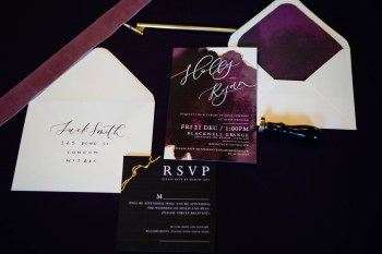 gothic glamour- vicki clayson photography-stationery