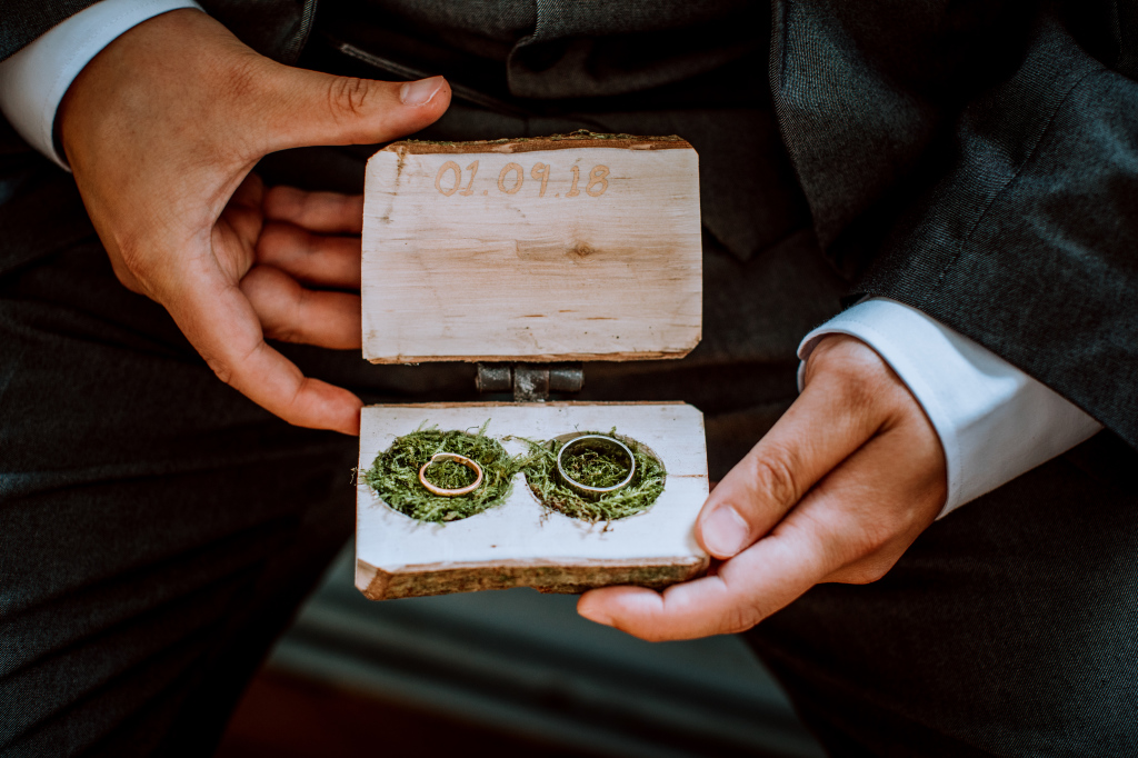 Alpaca Yurt Wedding- Rings