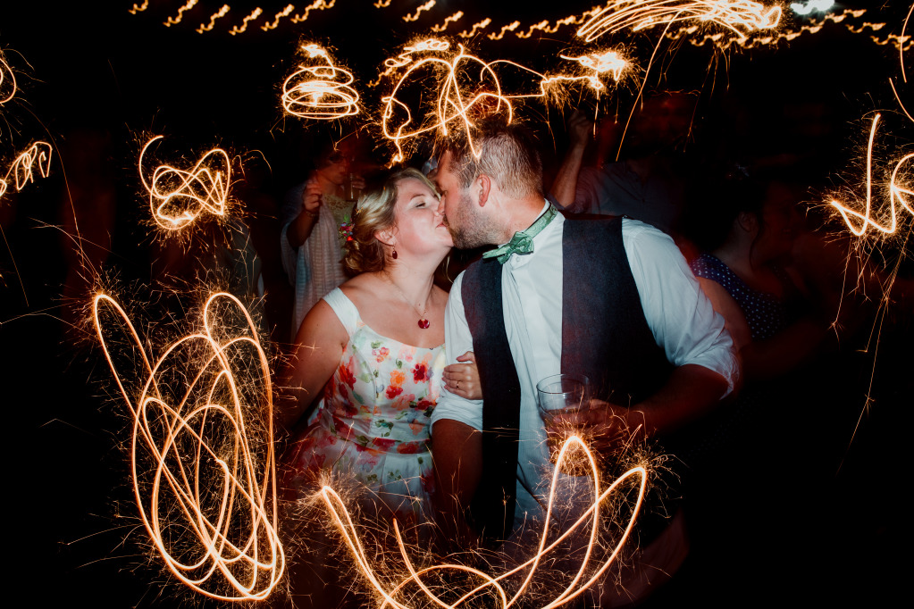 Alpaca Yurt Wedding- Sparklers