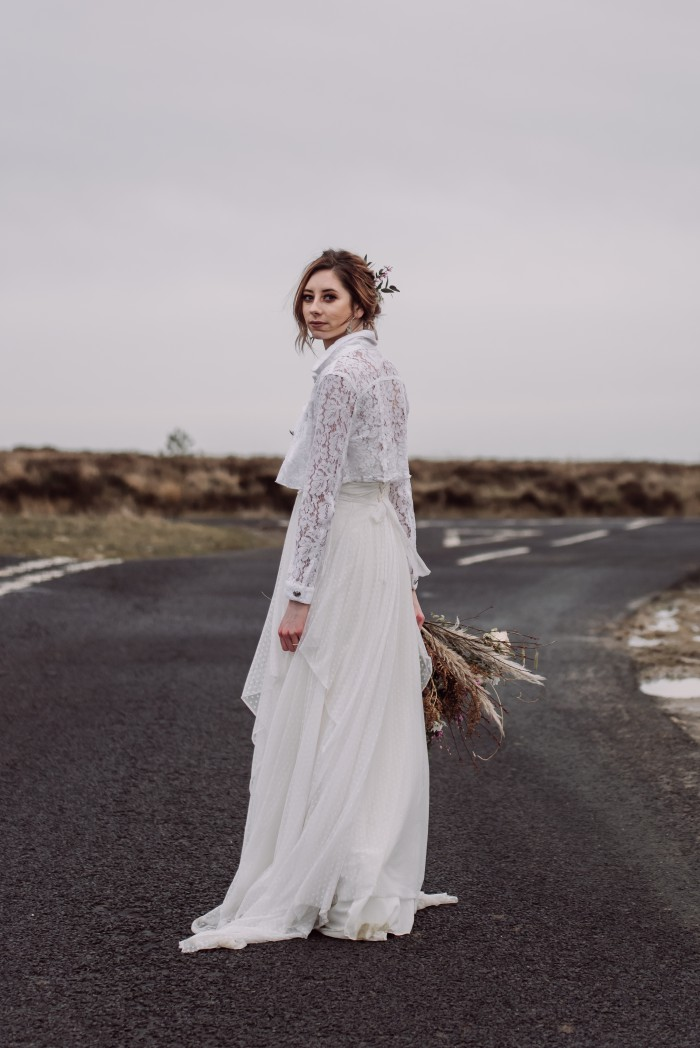 Emma Ryan- Elopement Wedding-Road