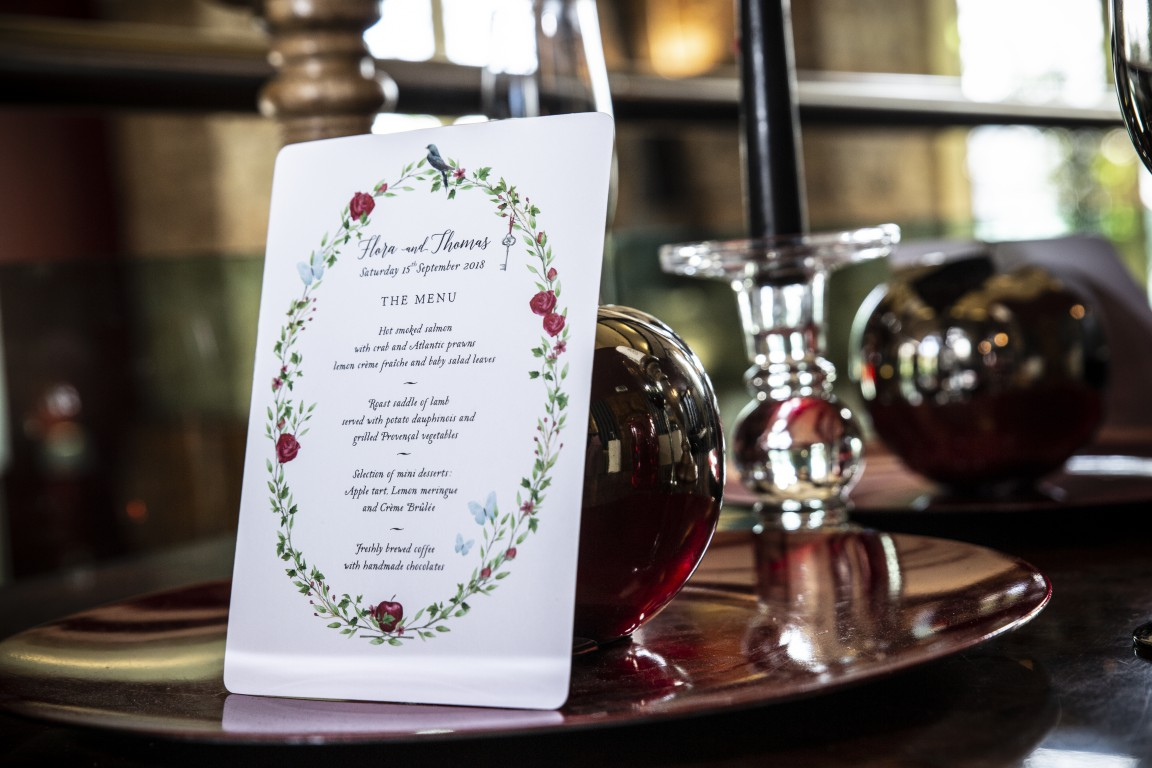 Magpie Weddings-Fairytale Weddings-Menu